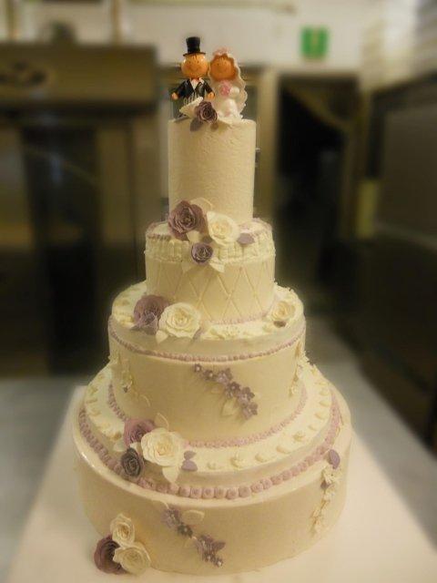Torta matrimoniale color Bianco e Lilla