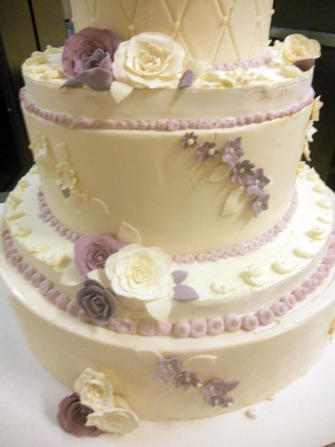 _Torta matrimoniale color Bianco e Lilla