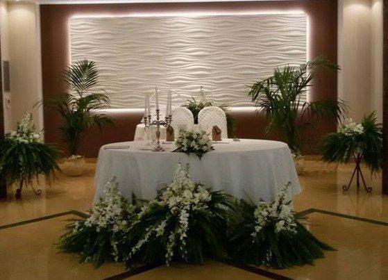 foto di tavola per gli sposi