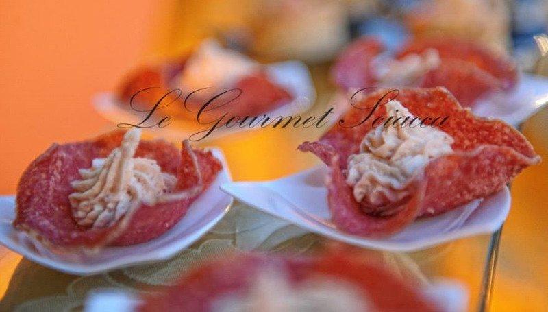 dettaglio di piatti gourmet