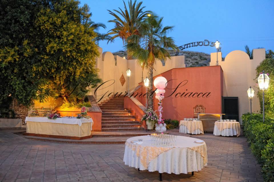 elegante giardino di ristorante gourmet