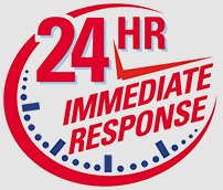 24 hour immediate response sticker