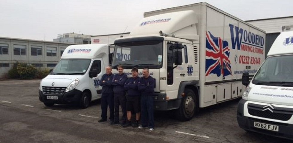 The Woodend Removals and Storage Services vehicles