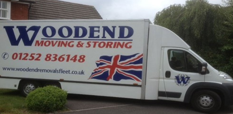 The Woodend Removals and Storage Services vehicle