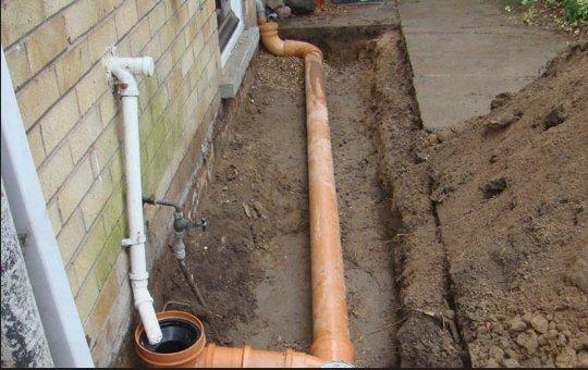 underground pipe installation