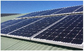 hills energy solutions solar panel on the roof