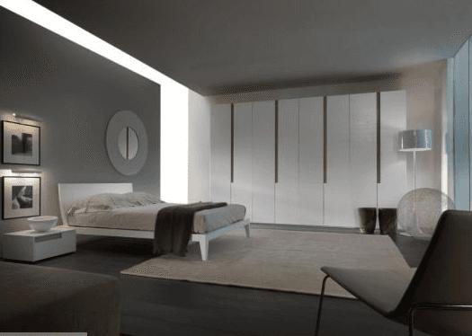 camera da letto minimale