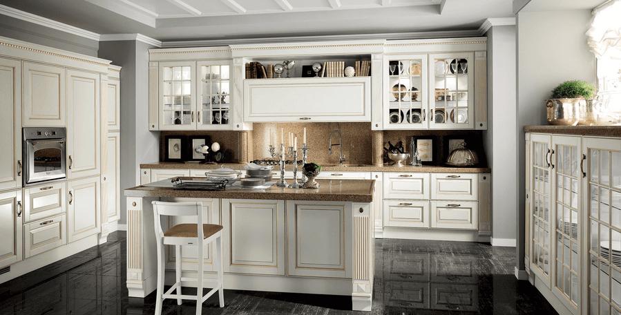 cucina stile contemporaneo bianca