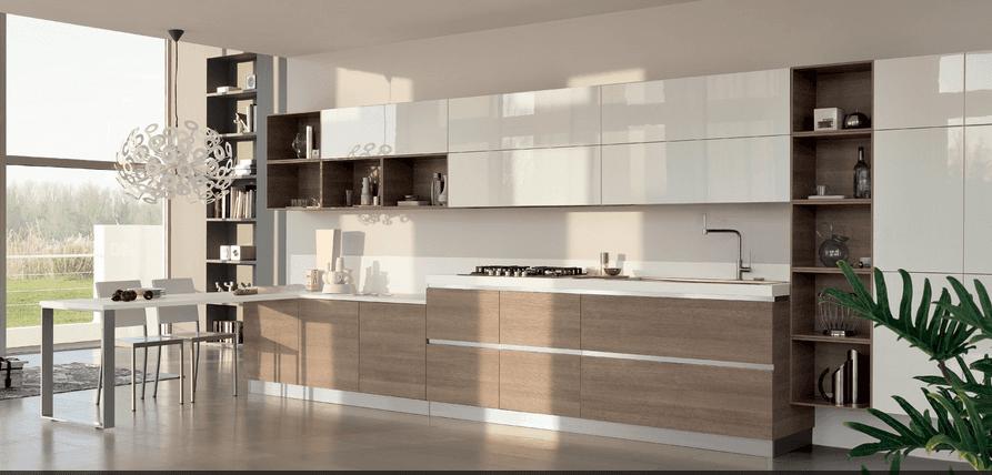 Piero ponzoni arredamenti bari cucine scavolini ed - Cucina bianca e legno naturale ...