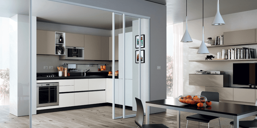 cucina-moderna-laccata-bianca-e-open-space