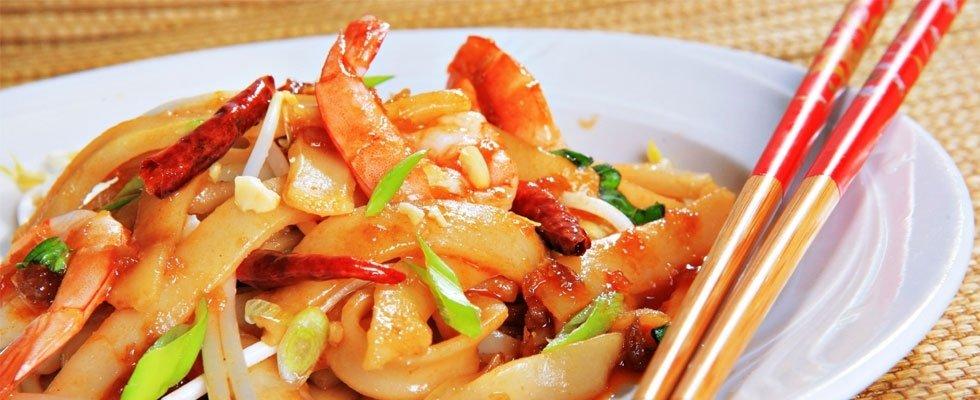 spaghetti cinesi con gamberi