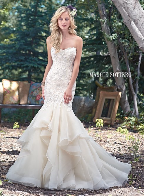 stylish white gown