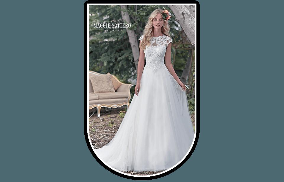 attractive wedding gown