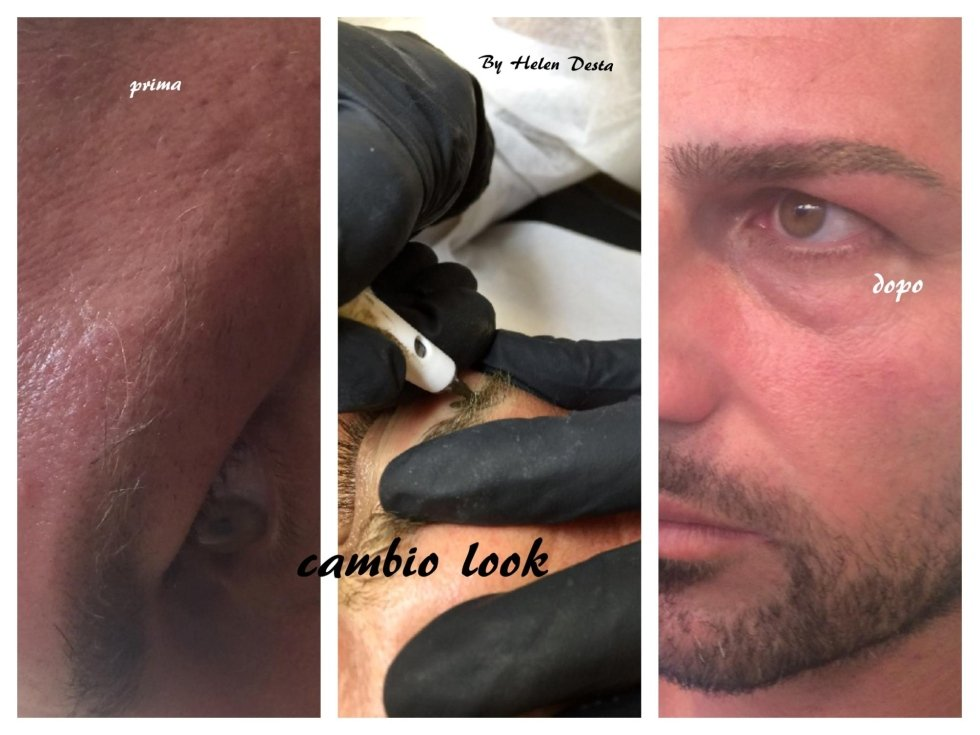 tatuaggio sopracciglia uomo