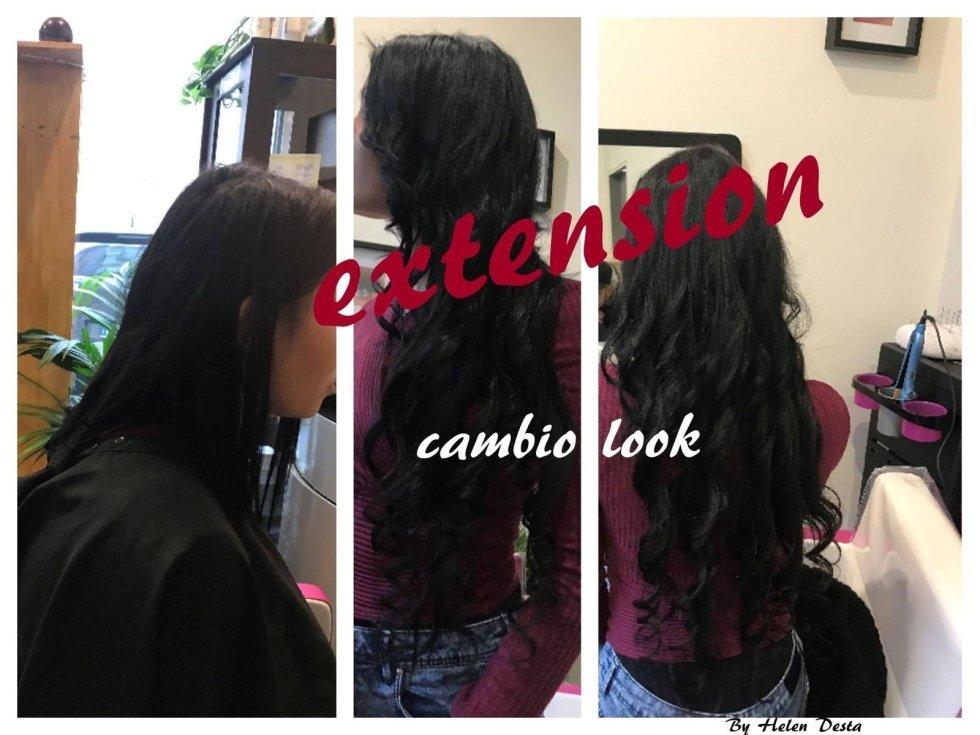 salone con donne-cambio look extension
