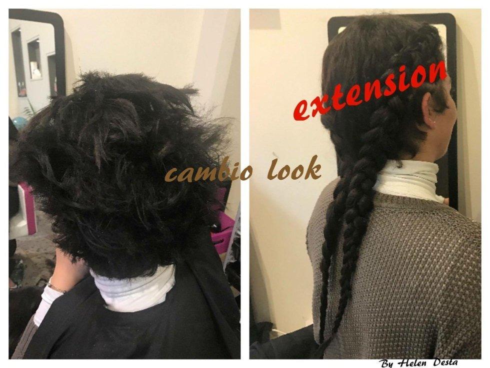 capelli ricci sistemati-cambio look extension