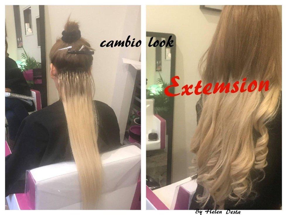 donne con capelli lisci-cambio look extension in un salone