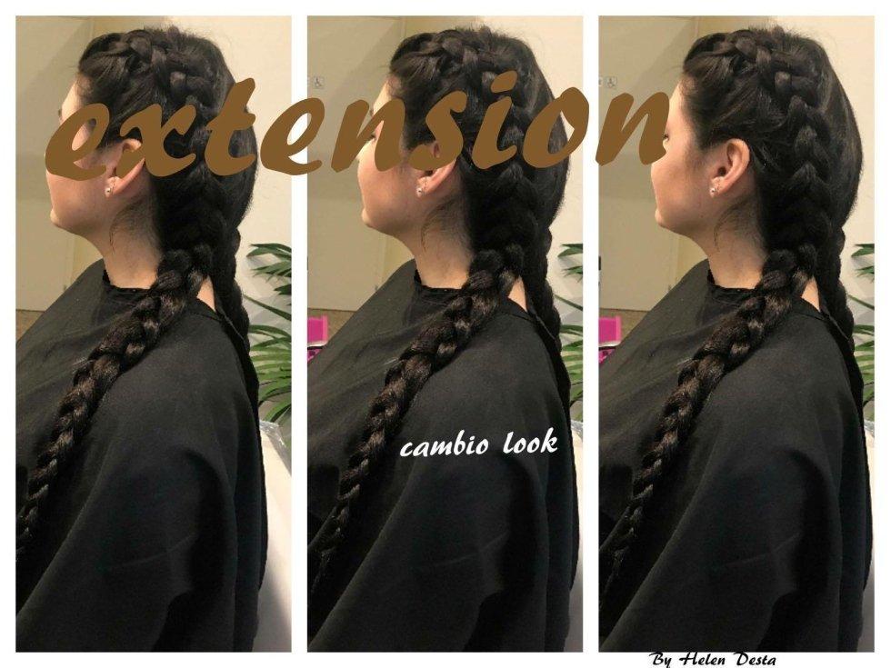 capelli con cambio look extension-vista laterale
