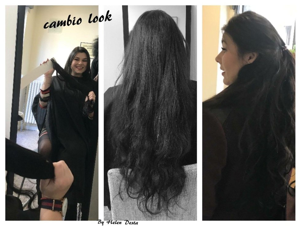 donne con extension capelli-cambio look