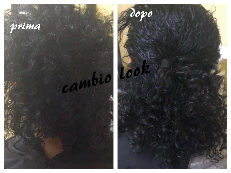 capelli ricci sistemati