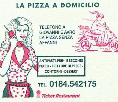 consegna pizza, consegna piatti pronti, pizzeria tavola clada