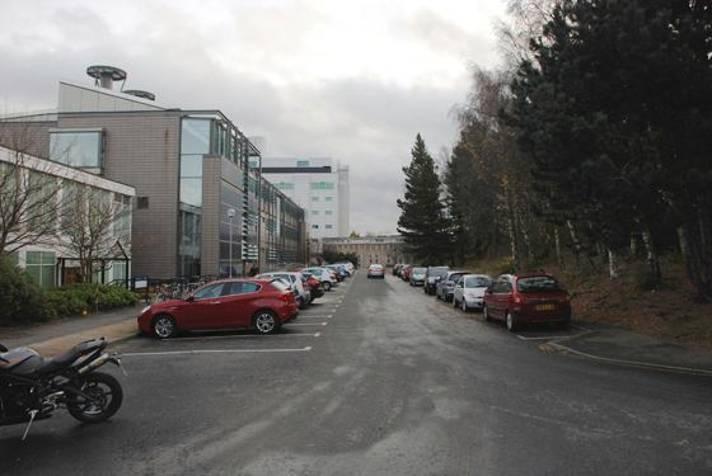 A resurfaced car park