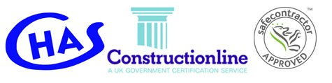 CHAS, Constructionline and Safe Contractor Approved Logos