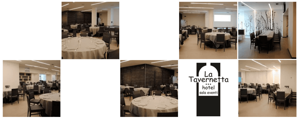 Sala eventi hotel La Tavernetta