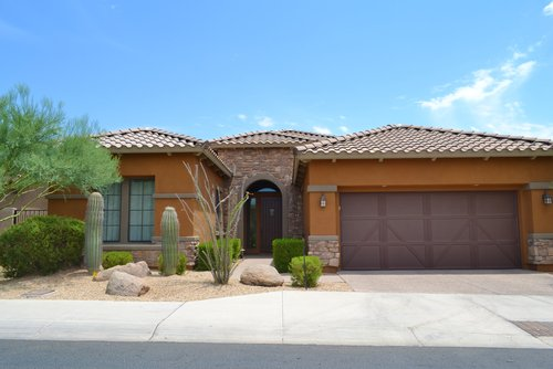 Garages after garage door installation in Fort Mohave, AZ