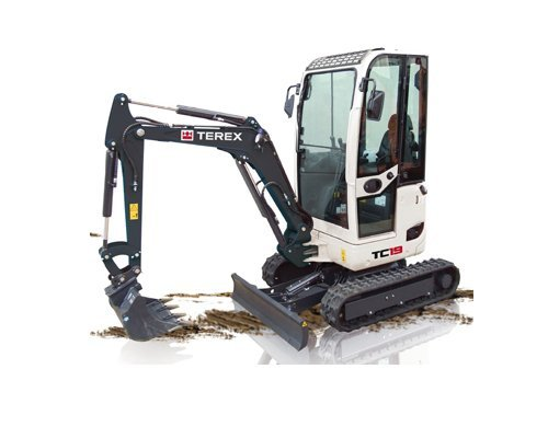 mini excavators terex tc15 and tc191