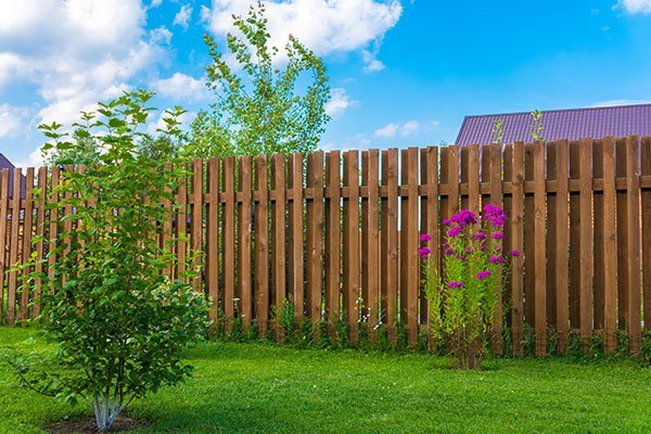 Wooden fence in a country house