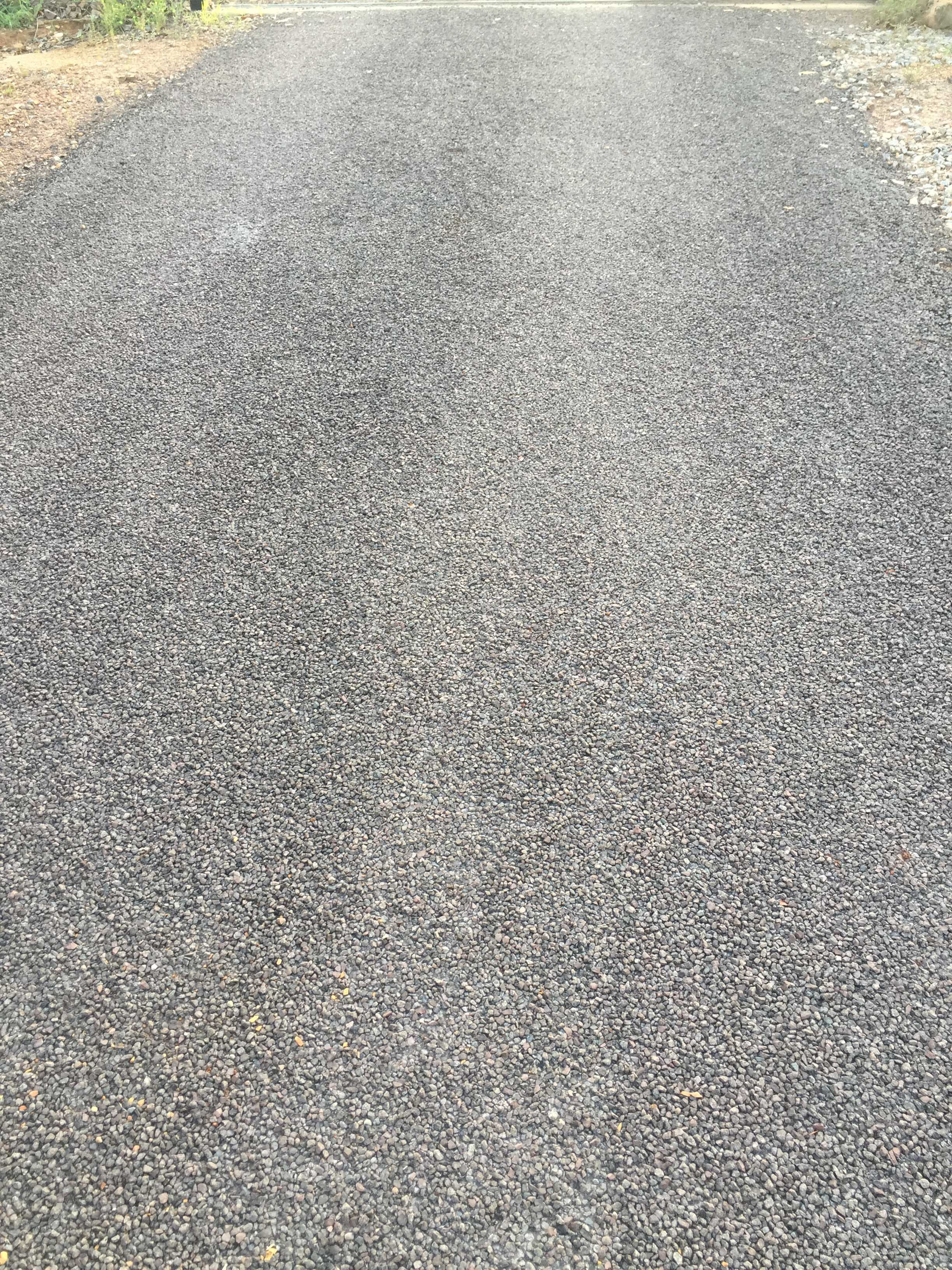View of the road work project done by experts