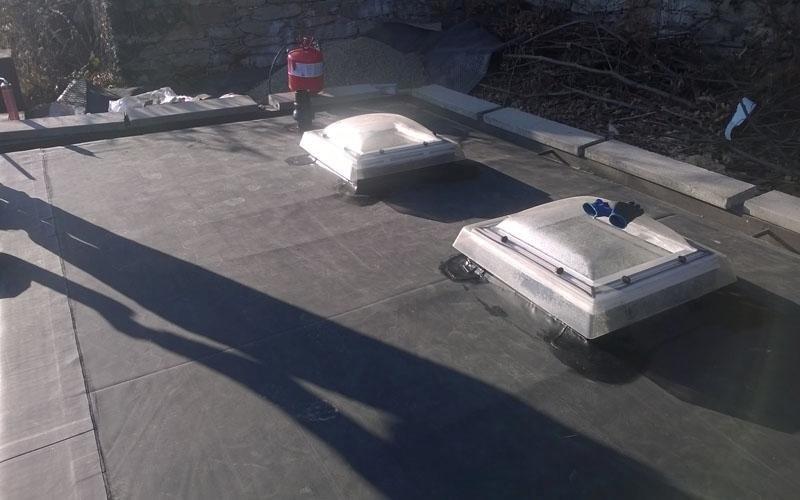 Lavori di impermeabilizzazione tetto