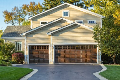 home with 3 car garage