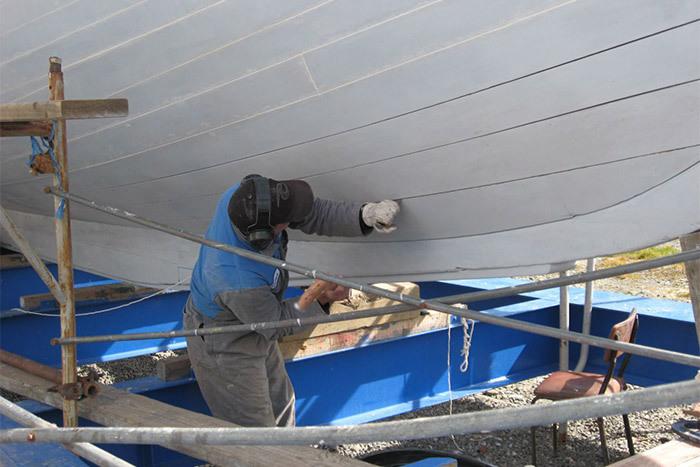 timber boat repairs in Havelock, Marlborough