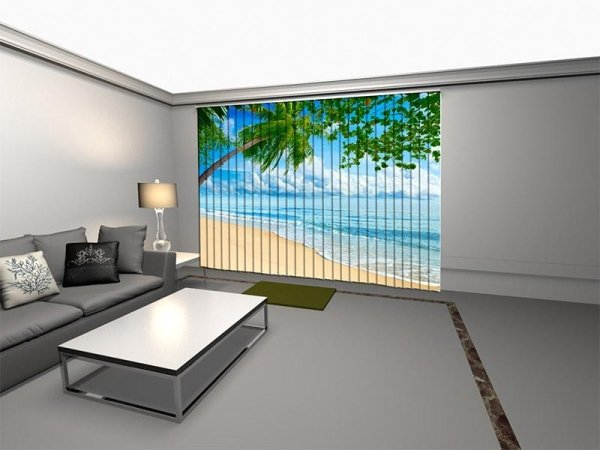 tende verticali foto spiaggia
