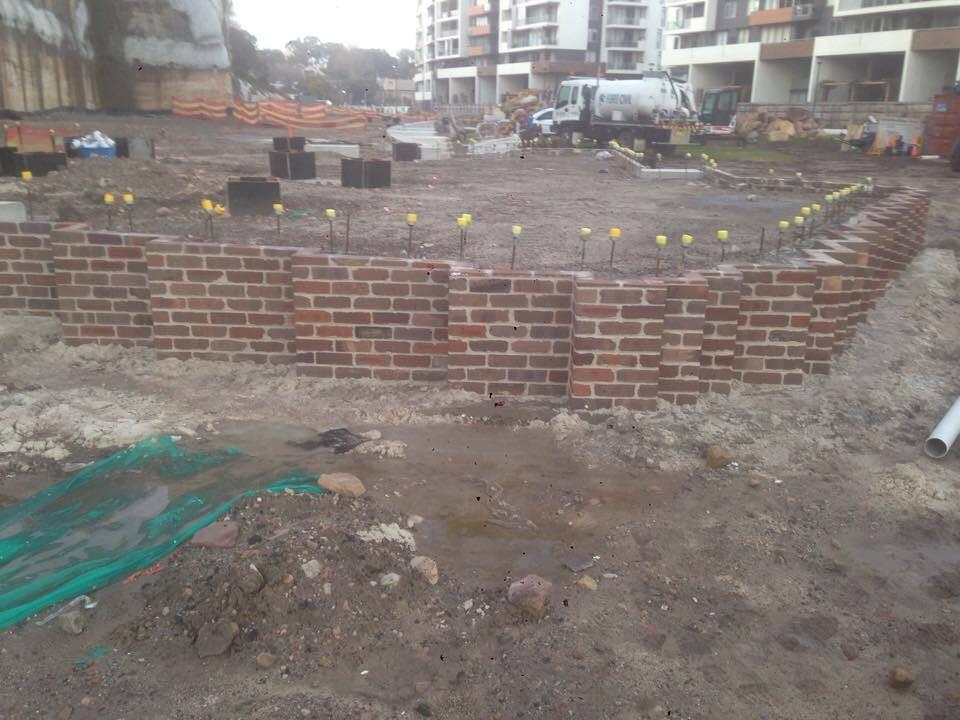 brick retention wall