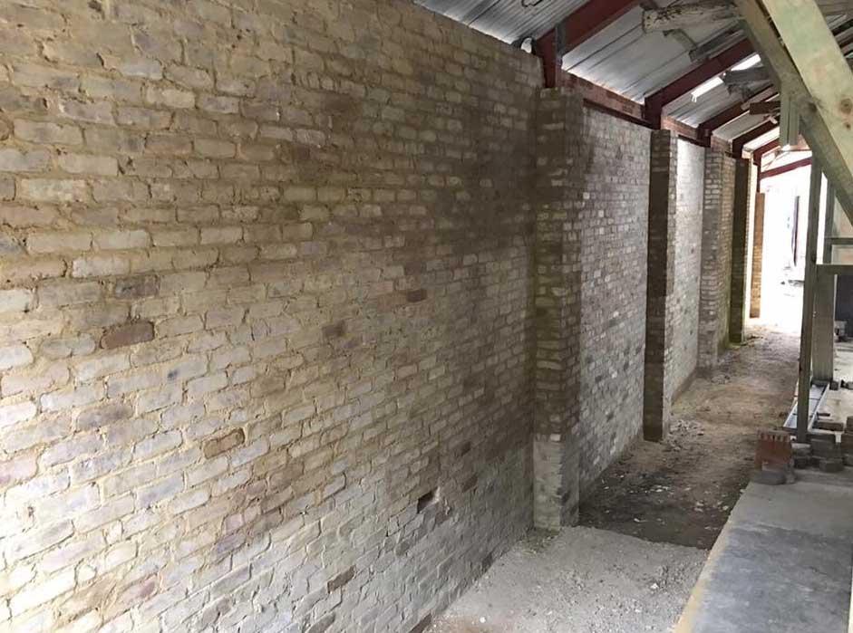 inside brick wall