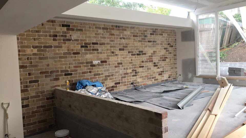mosaic brick wall