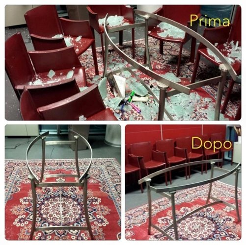 prima e dopo rifacimento di un pavimento