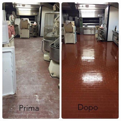 prima e dopo pulizie Pulimar in un`abitazione