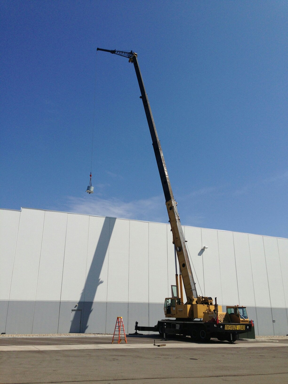 One of our cranes