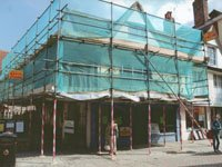 Repairs & refurbishment of listed building/shop in Canterbury including liaising with Conservation Officer. Full service.