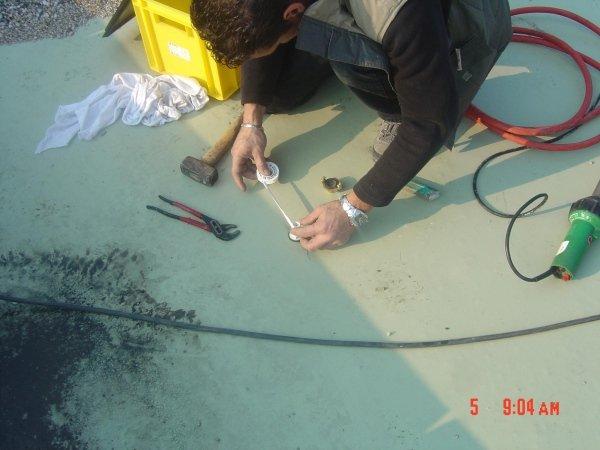 installazione flangia tracer gas