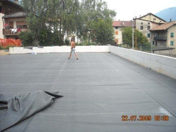 Copertura terrazzo Scuola Male