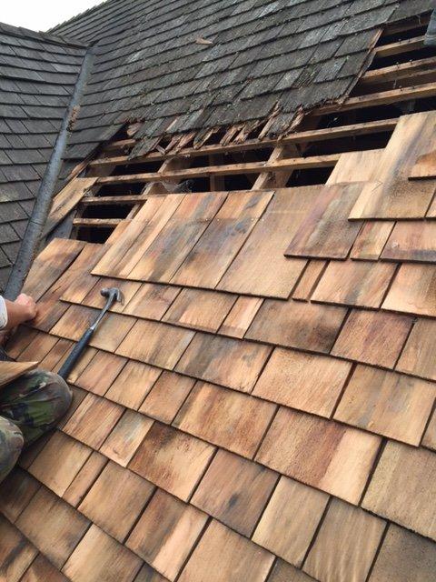 fitting slate roof