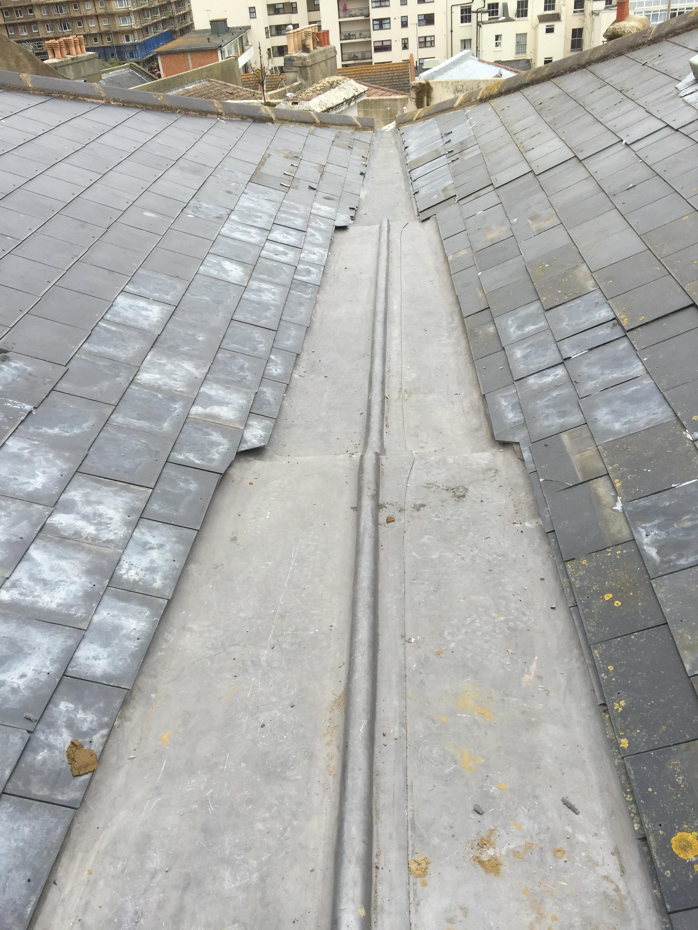 sloped slate roofing