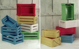 scatole in legno