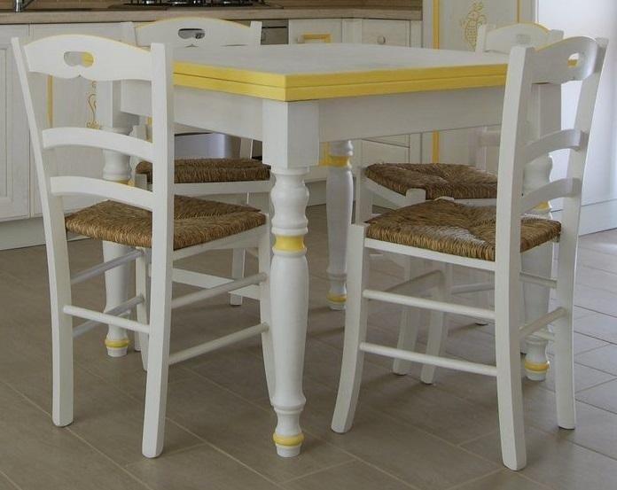 promo tavolo apribile 90x90 e 4 sedie