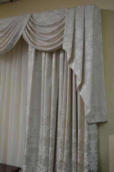 fancy curtains with drapes